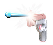Earth shot out of gun Royalty Free Stock Images