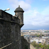 Gun Edinburgh castle Royalty Free Stock Photo