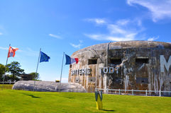 Gun emplacement Batterie Todt Royalty Free Stock Photography