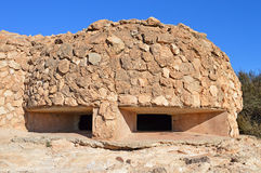 A Gun Emplacement Bunker Spanish Civil War-Defences Historic Architecture  Royalty Free Stock Images