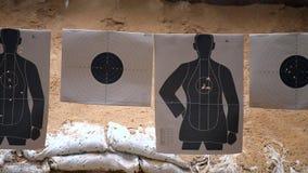 Gun fire target practice stock video