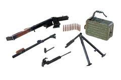 Gun firearm disassembled view. Gun firearm black disassembled view. 3D rendering Royalty Free Stock Photo