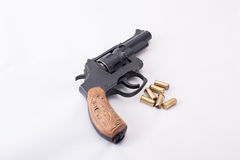Gun firing rubber bullets Royalty Free Stock Image