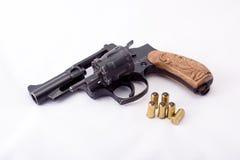 Gun firing rubber bullets Royalty Free Stock Photos