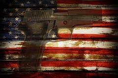 Gun and flag Stock Image