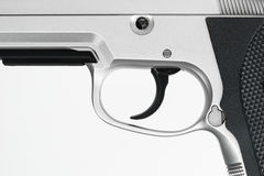 Gun , focus on trigger Royalty Free Stock Image