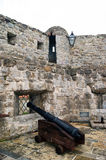 The gun in the fortress of Budva Royalty Free Stock Photos