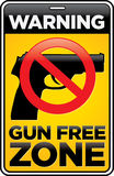 Gun Free Zone Sign. Vector Gun Free Zone street and building sign vector illustration