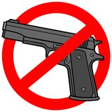 Gun Free Zone Royalty Free Stock Image