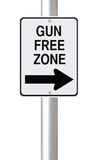 Gun Free Zone This Way Royalty Free Stock Image