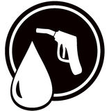 Gun for fuel pump - gas station sign Royalty Free Stock Photos