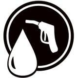 Gun for fuel pump - gas station sign. Black icon with gun for fuel pump - gas station sign Royalty Free Stock Photos