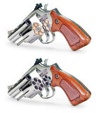 Gun Full Empty Royalty Free Stock Photo
