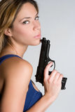 Gun Girl Stock Photo