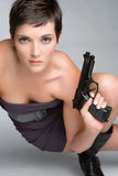 Gun Girl Stock Photography