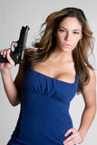 Gun Girl Royalty Free Stock Photo