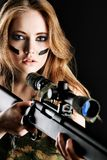 Gun girl Royalty Free Stock Image