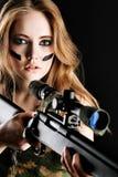 Gun Girl Royalty Free Stock Image