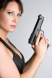 Gun Girl Royalty Free Stock Images