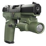 Gun green military, police Stock Photo