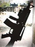 Gun on ground Royalty Free Stock Photography