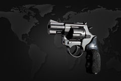 Gun gun on black background Stock Photo