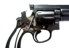 Gun guts. Internal parts of a custom revolver Royalty Free Stock Images