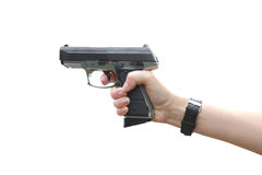 Gun in hand Royalty Free Stock Photo