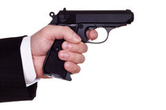Gun in hand Stock Photos