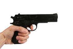 Gun in the hand Stock Photos