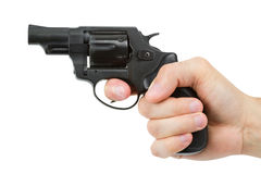 Gun in hand Stock Images