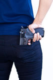 Gun in hand Royalty Free Stock Photos
