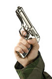 Gun in the hand Royalty Free Stock Images