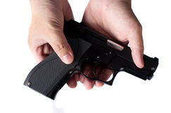 Gun in hand Stock Photography