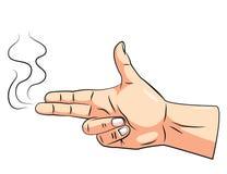 Gun Hand. Eps 10  illustration Design Stock Image