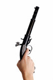 Gun in hand isolated Stock Images