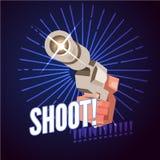 Gun in hand preparing to shooting. pistol -  illustration. Gun in hand preparing to shooting. pistol Royalty Free Stock Photo