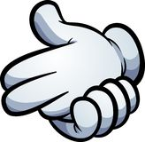 Gun hand sign made with cartoon gloves royalty free illustration