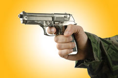 Gun in the hand Stock Photo