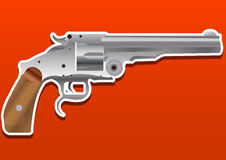 Gun, Handgun, Pistol or Revolver, illustration Royalty Free Stock Images