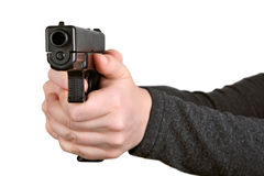 Gun in hands Royalty Free Stock Image