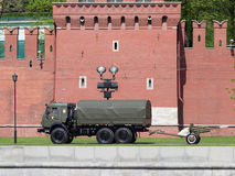 Gun, heralding the start of the military parade in Moscow Stock Images