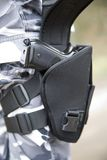 Gun holster. With a 9mm weapon inside Royalty Free Stock Photos