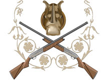 Gun of hunting Stock Image