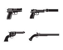 Gun icons Royalty Free Stock Photography