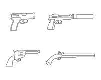 Gun icons Royalty Free Stock Image