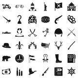 Gun icons set, simple style. Gun icons set. Simple style of 36 gun vector icons for web isolated on white background Stock Photo