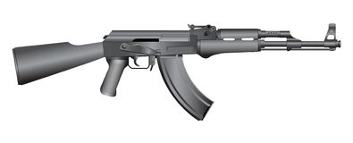 Gun illustration Royalty Free Stock Photos