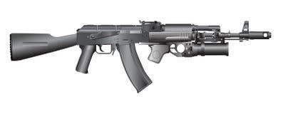 Gun illustration. Retro weapon isolated on white Royalty Free Stock Photography