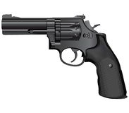 Gun illustration(vector). Detailed illustration of weapon isolated on white Royalty Free Stock Photography